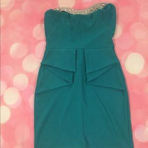 Teal mini dress!